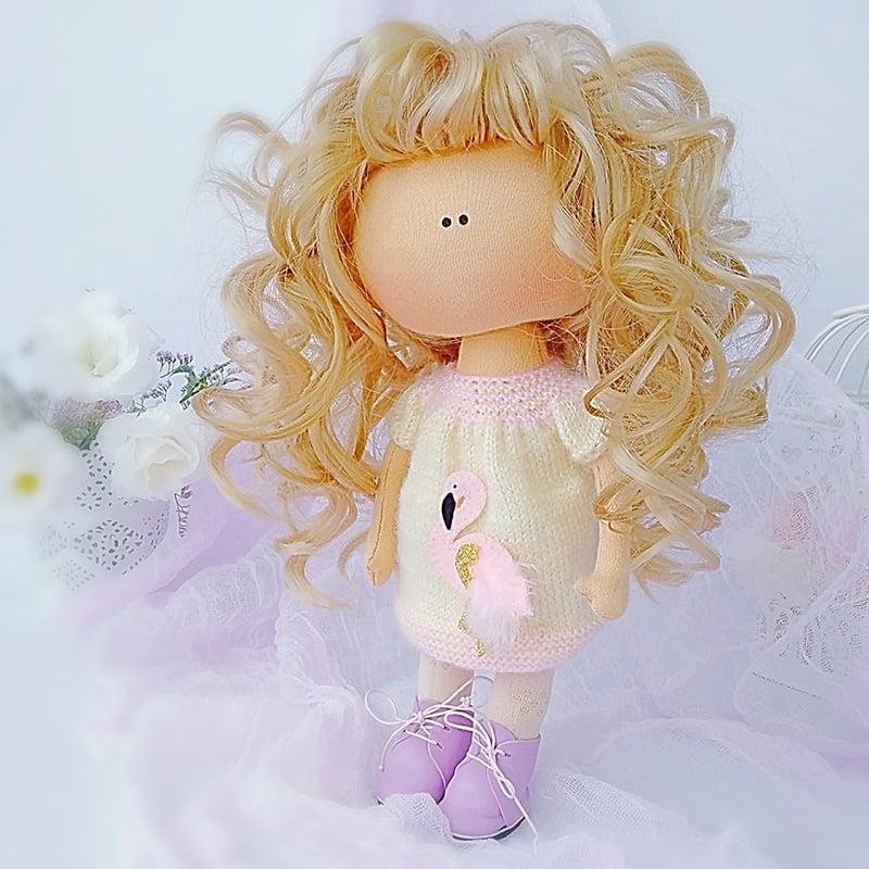 Трогательная дизайнерская интерьерная кукла Малышка Тильда
