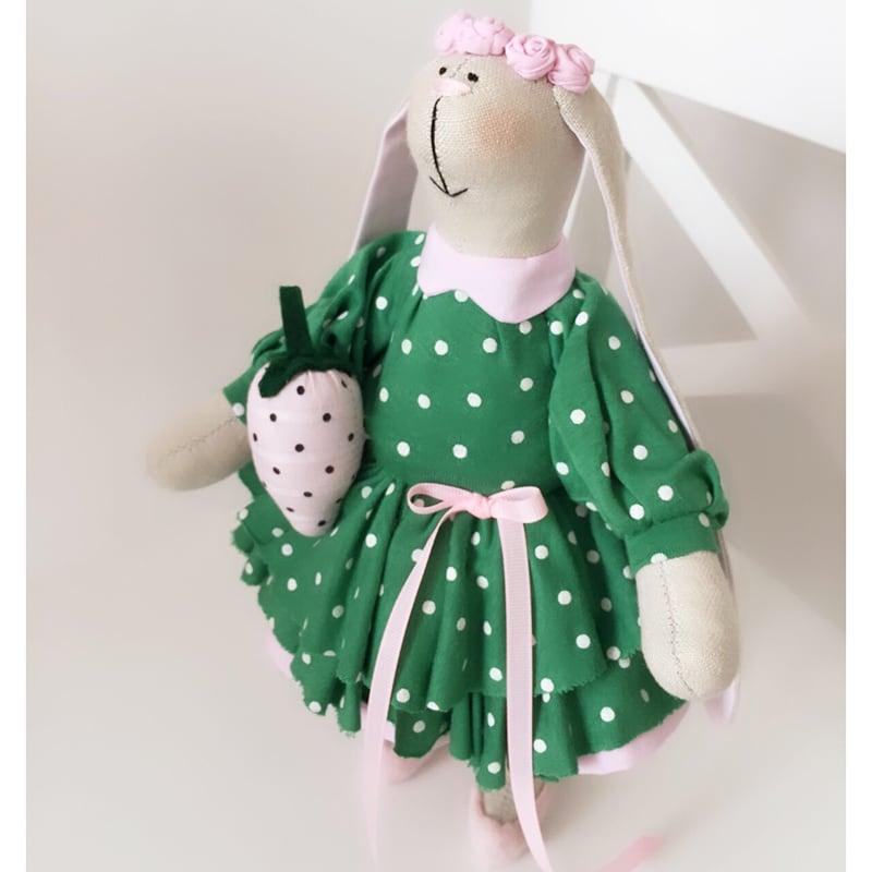 Лялька текстильна Зайка Фіона