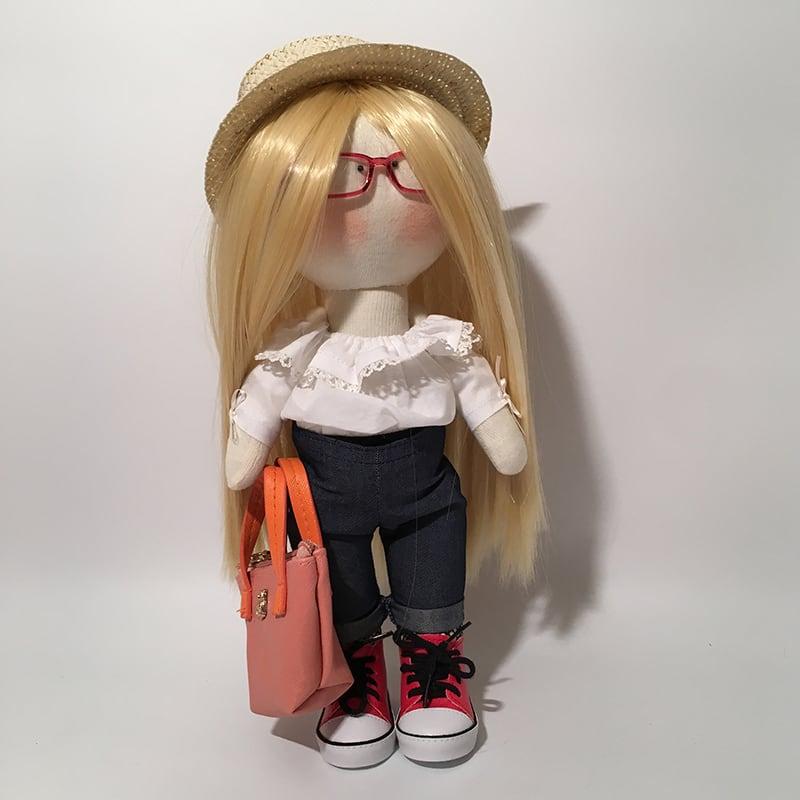 Интерьерная кукла тильда ручной работы Эштон