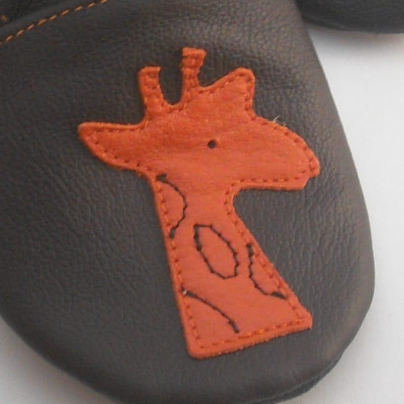 Дизайнерская кожаная обувь для мальчиков Еbooba Оранжевый Жираф