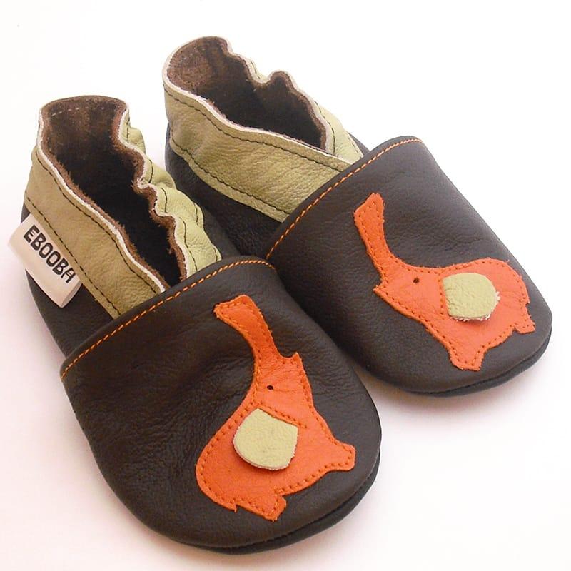 Роскошные тапочки-чешки для мальчика ручной работы Еbooba Слоник