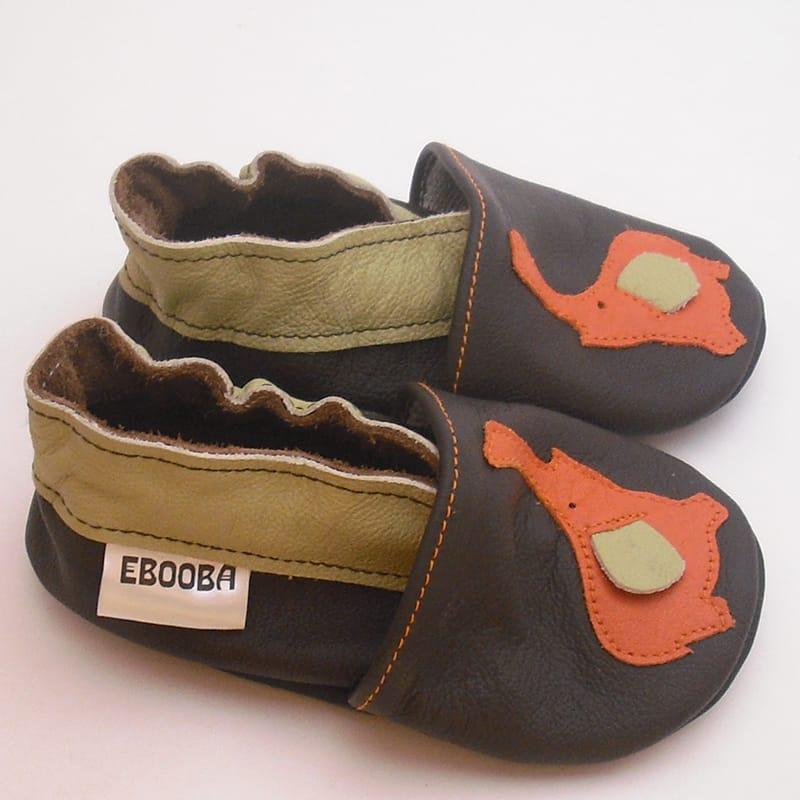 Розкішні тапочки-чешки для хлопчика ручної роботи Еbooba Слоник