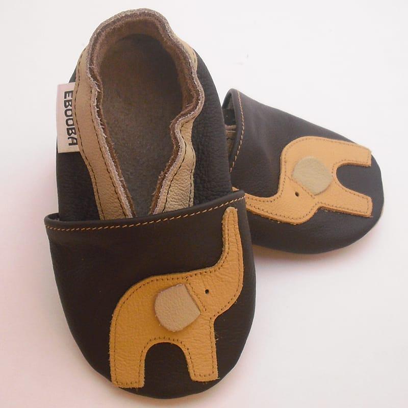 Роскошные тапочки для мальчика Еbooba Слонёнок (brown leather)