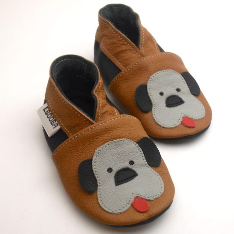 Handmade кожаная пара обуви унисекс Еbooba Веселый щенок