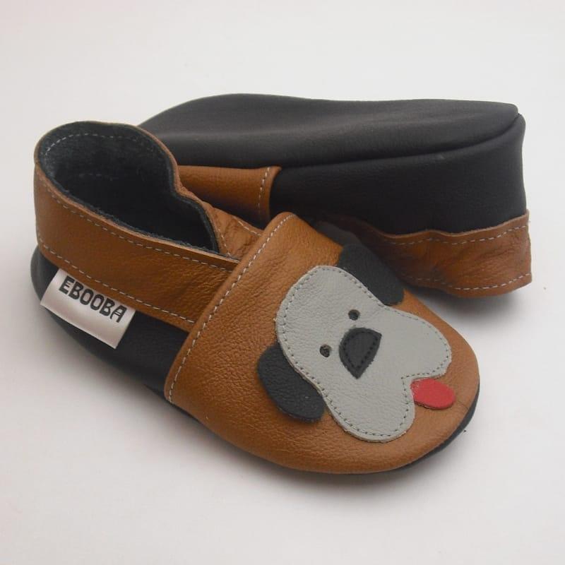 Handmade шкіряна пара взуття унісекс Еbooba Веселий щеня