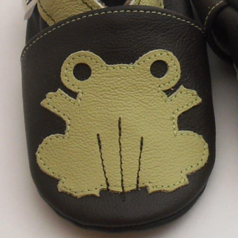 Брендовые кожаные туфли-чешки для мальчика Еbooba Лягушка