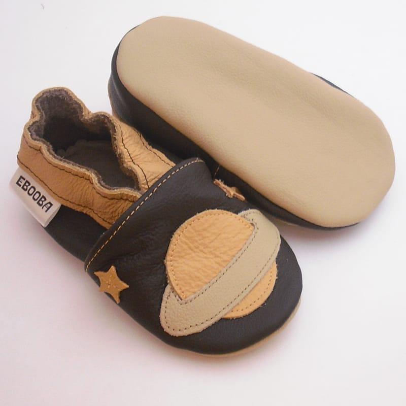 Шкіряне взуття для хлопчиків Еbooba Бежевий Сатурн (brown leather)