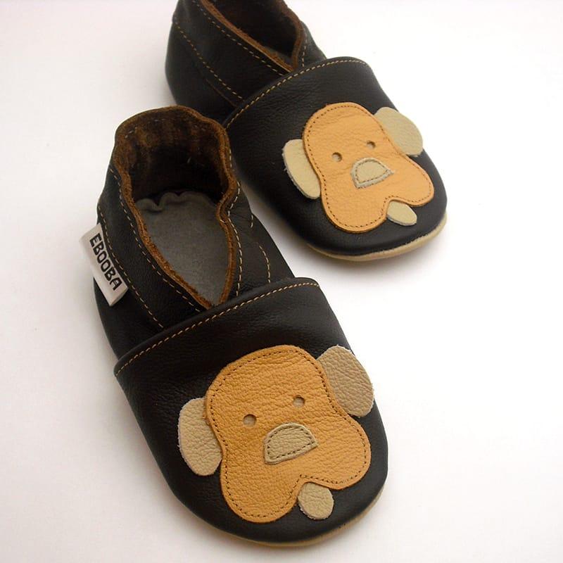 Дизайнерская кожаная обувь для мальчика Еbooba Щенок (brown leather)