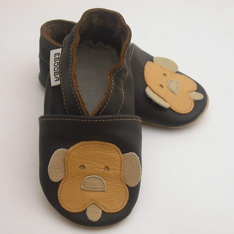 Дизайнерська шкіряне взуття для хлопчика Еbooba Щеня (brown leather)