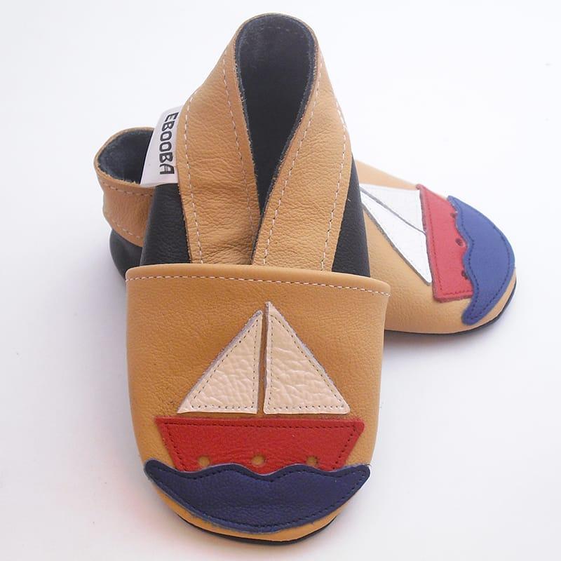 Тапочки-чешки для хлопчика ручної роботи Еbooba Кораблик
