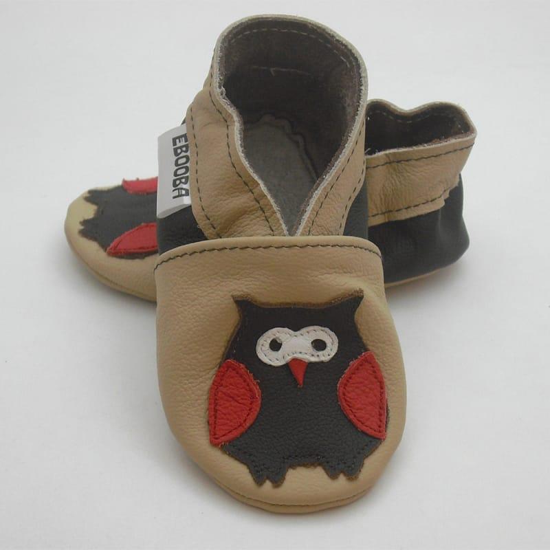 Яркая кожаная обувь унисекс Еbooba Совенок (brown leather)