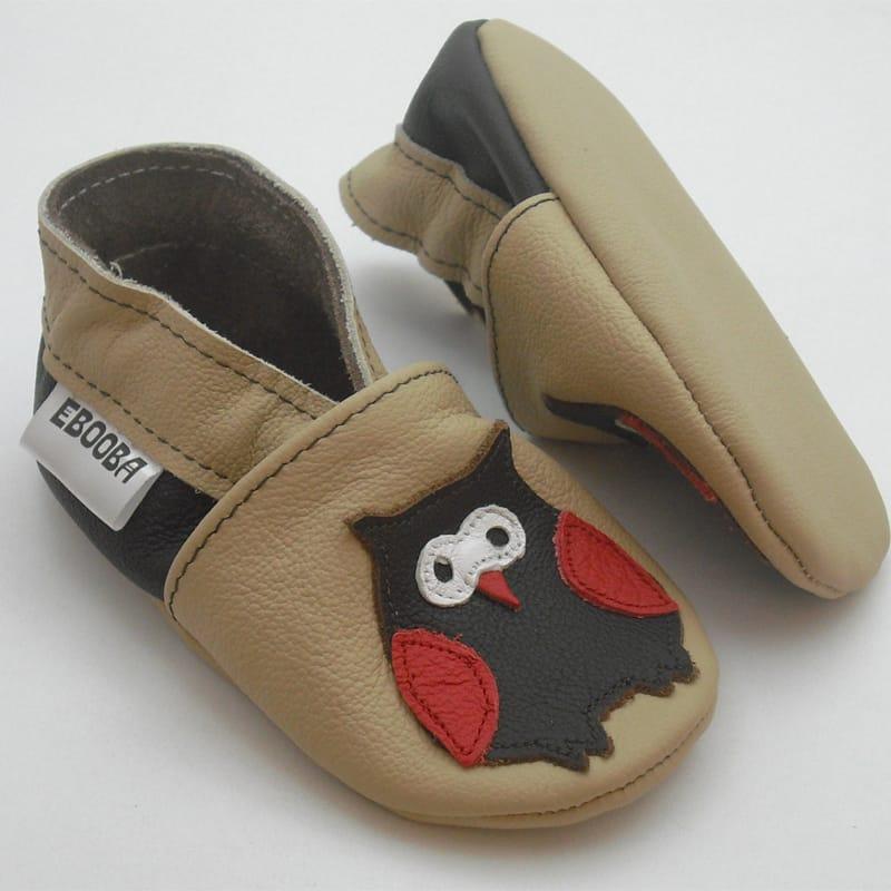 Яскрава шкіряне взуття унісекс Еbooba Совеня (brown leather)