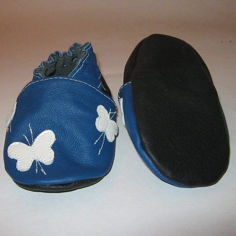 Handmade дитяче взуття унісекс Еbooba Метелики (blue leather)