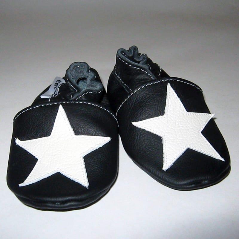 Модные туфли-чешки для мальчика Еbooba Звезда (black leather)