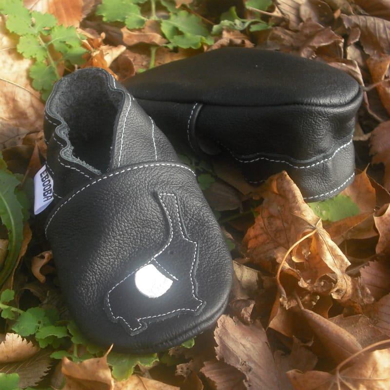 Стильная кожаная обувь для мальчиков Еbooba Черный Слон