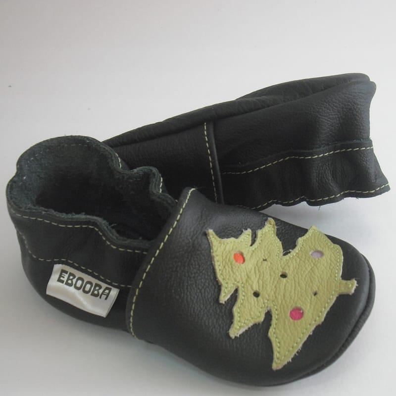 Модная кожаная унисекс обувь для детей Еbooba Новогодняя ёлочка