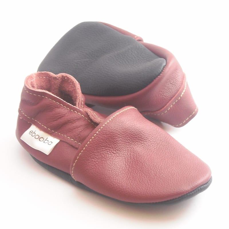 Модные кожаные туфельки-чешки для девочки Еbooba Марсала (pink leather)