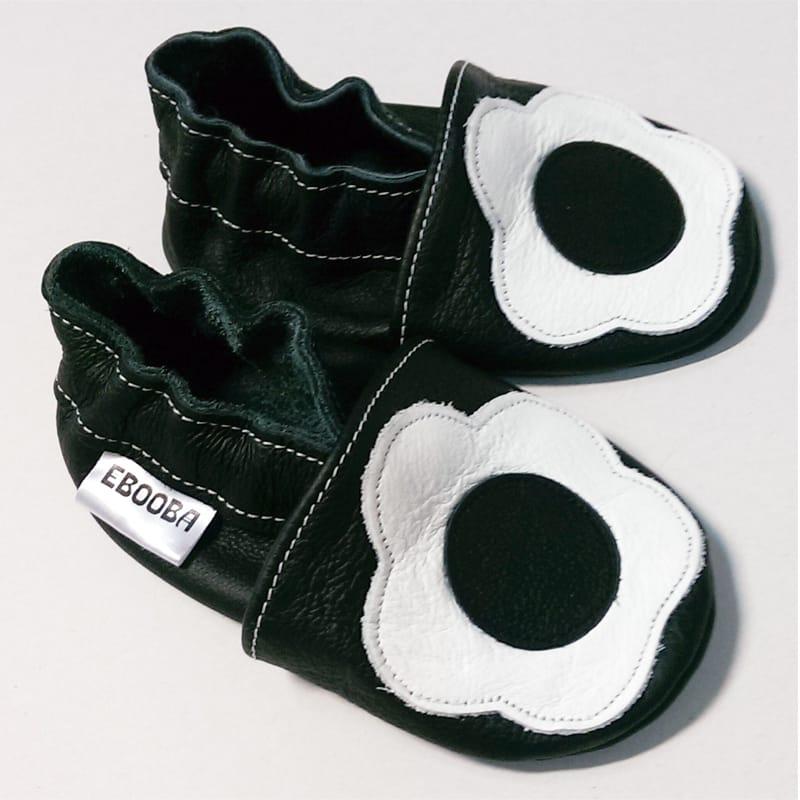 Изысканные туфельки для девочки Еbooba Белый Цветок (black leather)