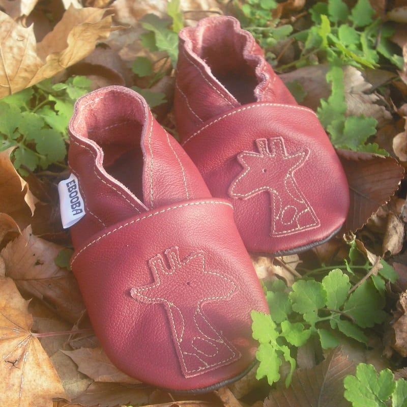 Модні туфельки для дівчинки Еbooba Рожевий Жираф (pink leather)