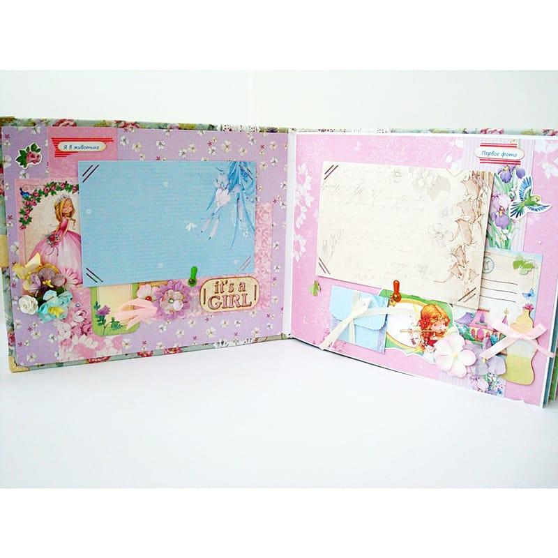 Дизайнерский фотоальбом ручной работы для девочек Princess Charm