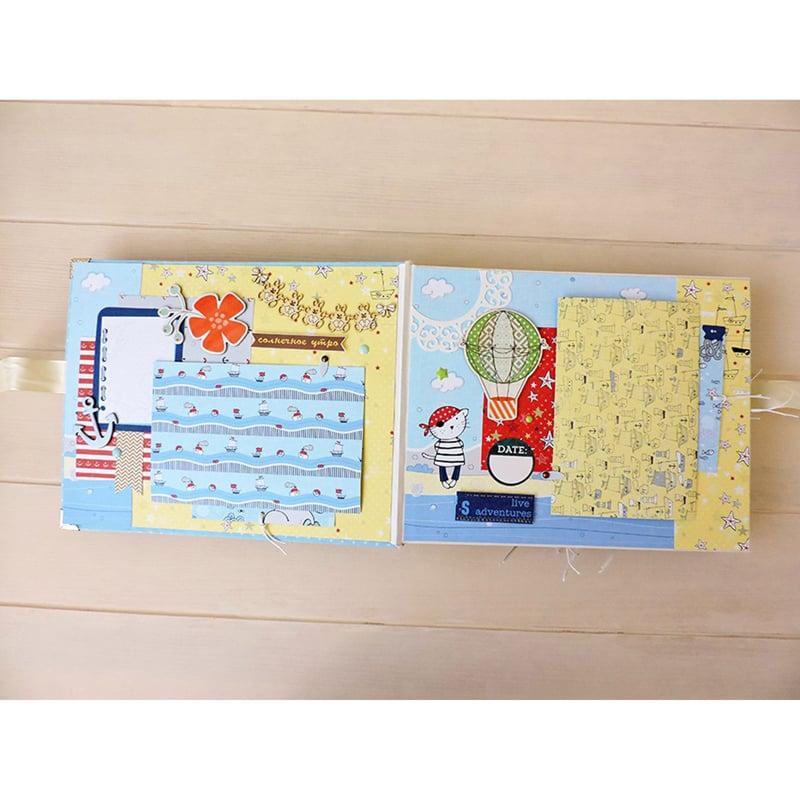 Дизайнерский фотоальбом для мальчика в подарок Admiral