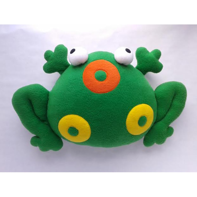 Handmade интерьерная подарочная подушка Лягушка Бьянка