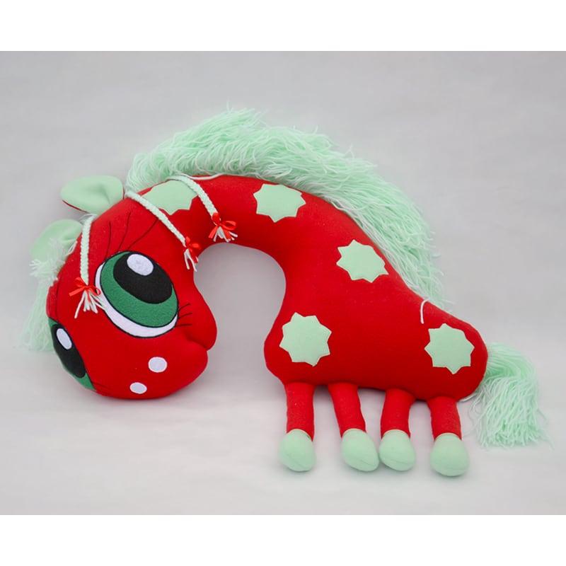 Подушка подголовник для детей Red Giraffe