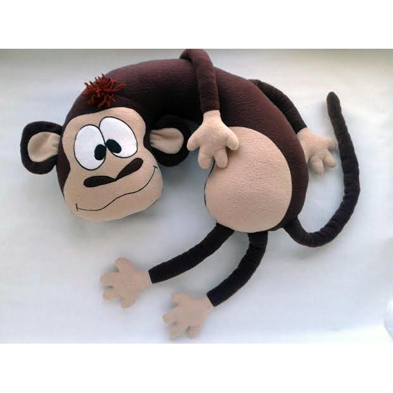 Стильна модна подушка-підголівник ручної роботи Мавпочка Джессіка