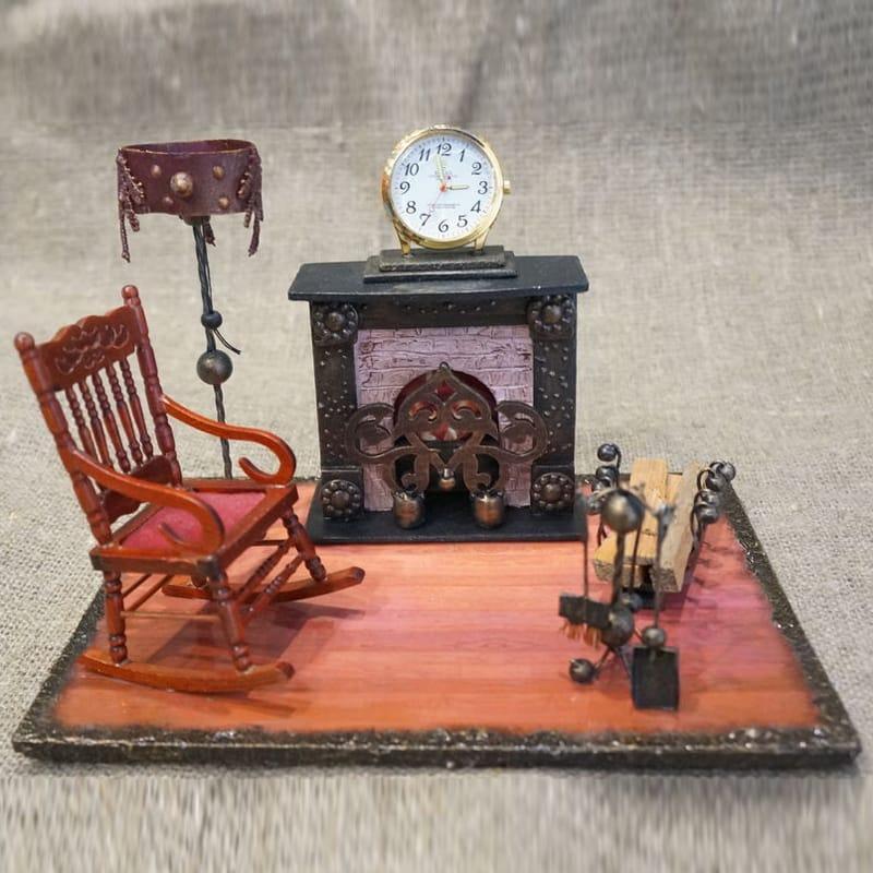 Оригінальні інтер'єрні годинники hand made Fireplace