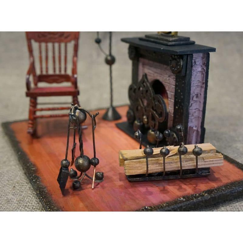Оригинальные интерьерные часы hand made Fireplace