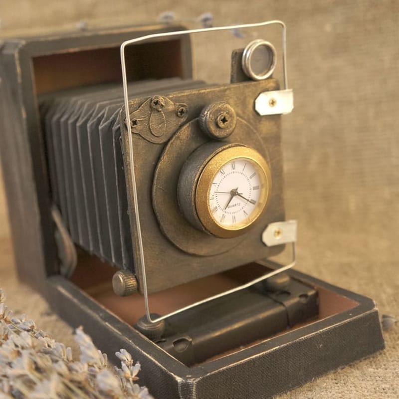 Эксклюзивные настольные интерьерные часы Retro Camera