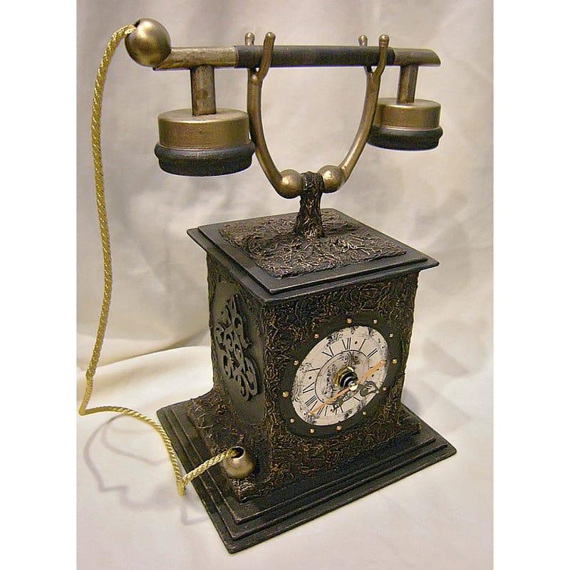 Уникальные настольные часы ручной работы Retro Phone