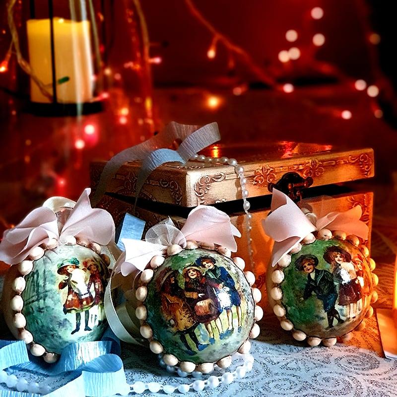 Набор елочных игрушек Merry Cristmas