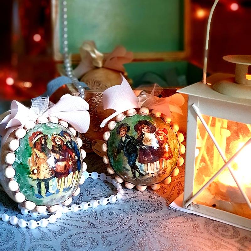 Набір ялинкових іграшок Merry Cristmas