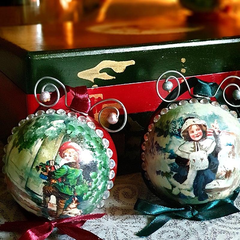 Набор елочных шаров Merry Christmas