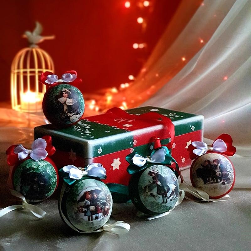 Набор елочных шаров Christmas Traditions