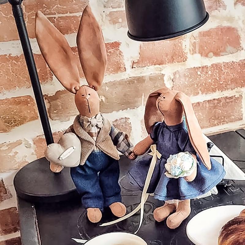 Интерьерные куклы Кролики Том и Донна
