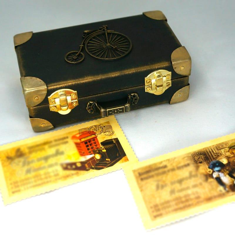 Купюрница ручной работы в подарок Ретро-Велосипед