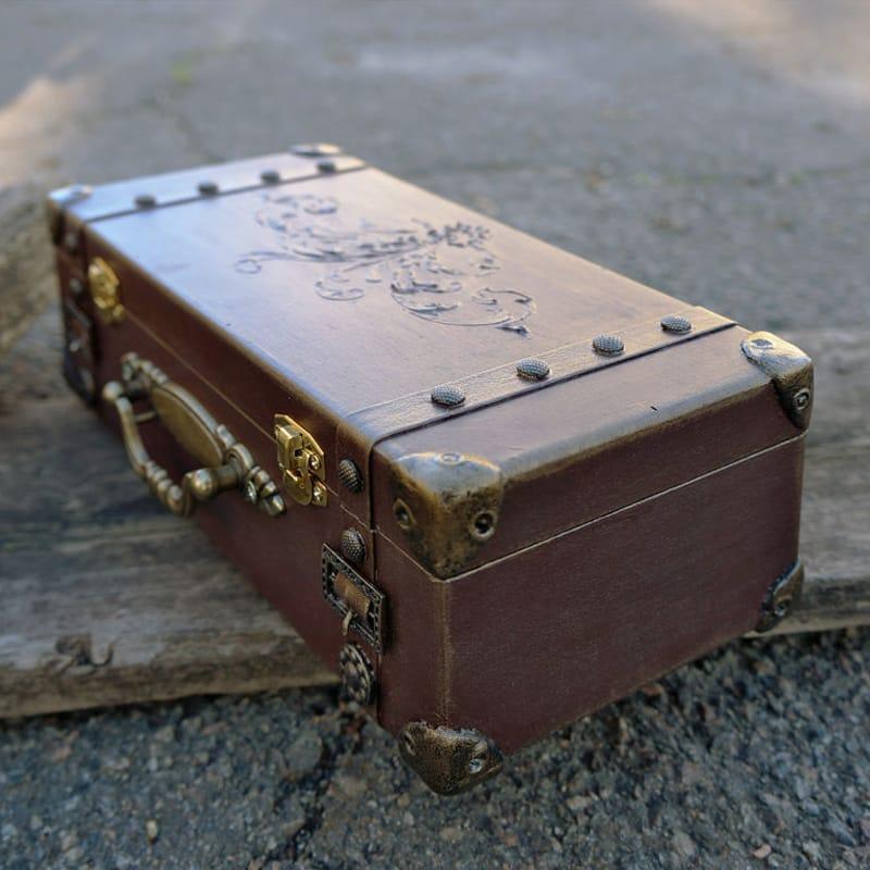 Дизайнерська скринька з дерева в подарунок Retro Sac