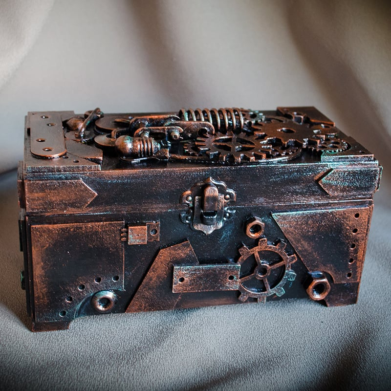Шкатулка-купюрница в подарунок Стімпанк Ambassador Horace Bramble