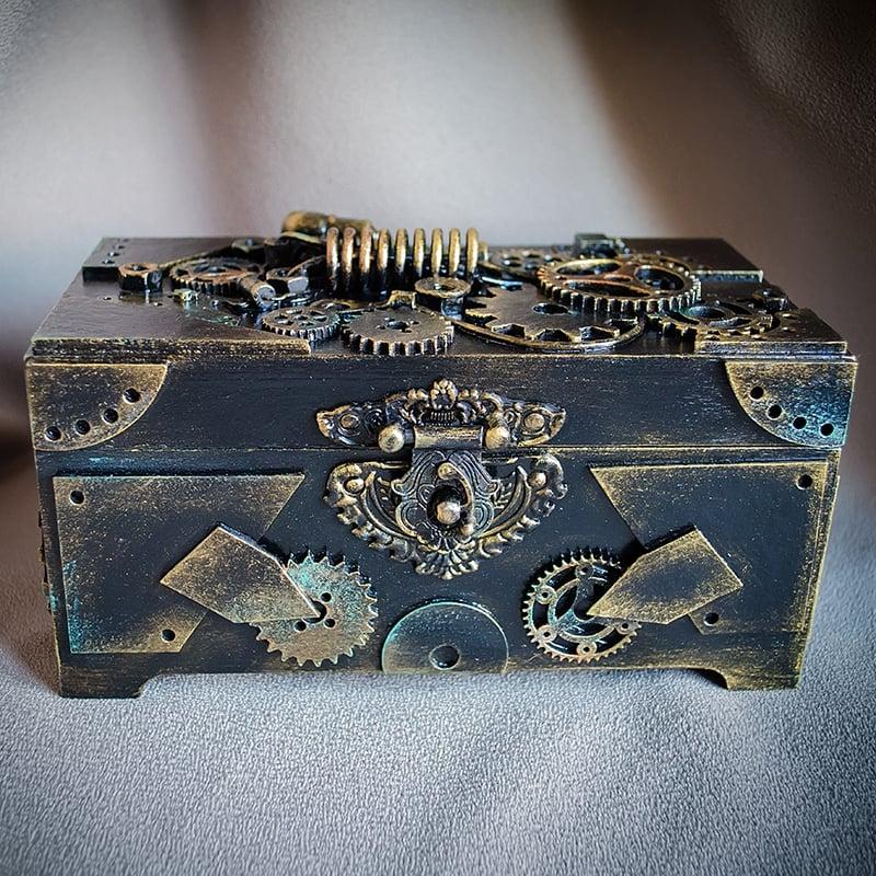 Авторська скринька-купюрница в подарунок Стімпанк Captain Julian Osborne