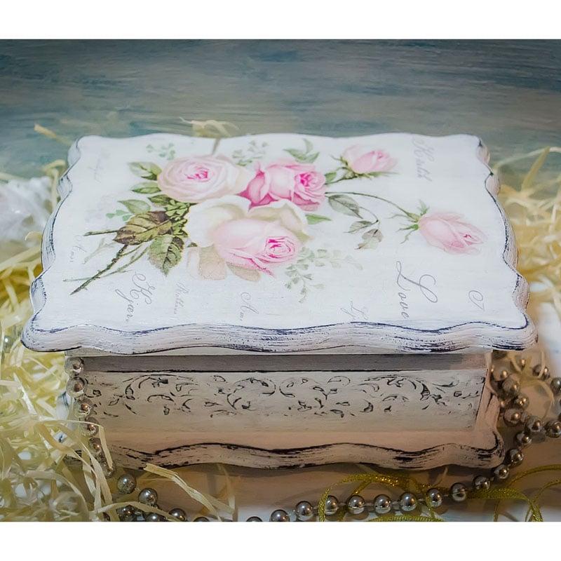 Дизайнерская шкатулка женщине в подарок Rose Vintage