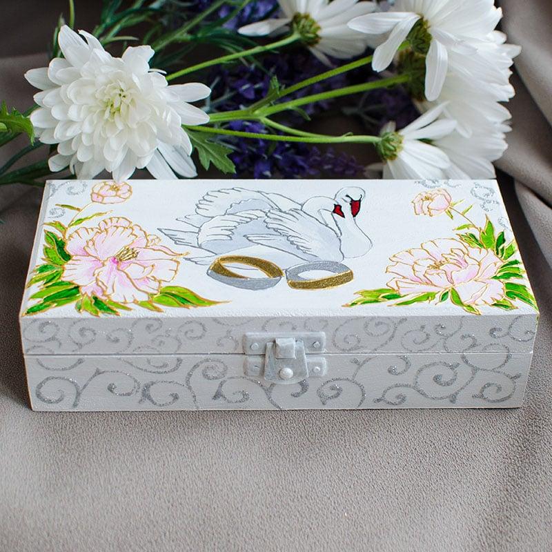 Шкатулка-купюрница для подарунка Весільна