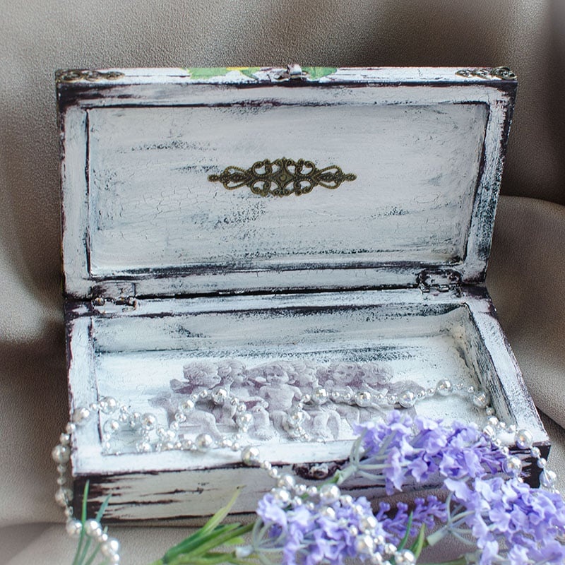 Винтажная шкатулка женщинам в подарок Розы