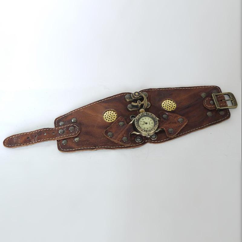 Годинники жіночі в подарунок Neo Gothic brown leather
