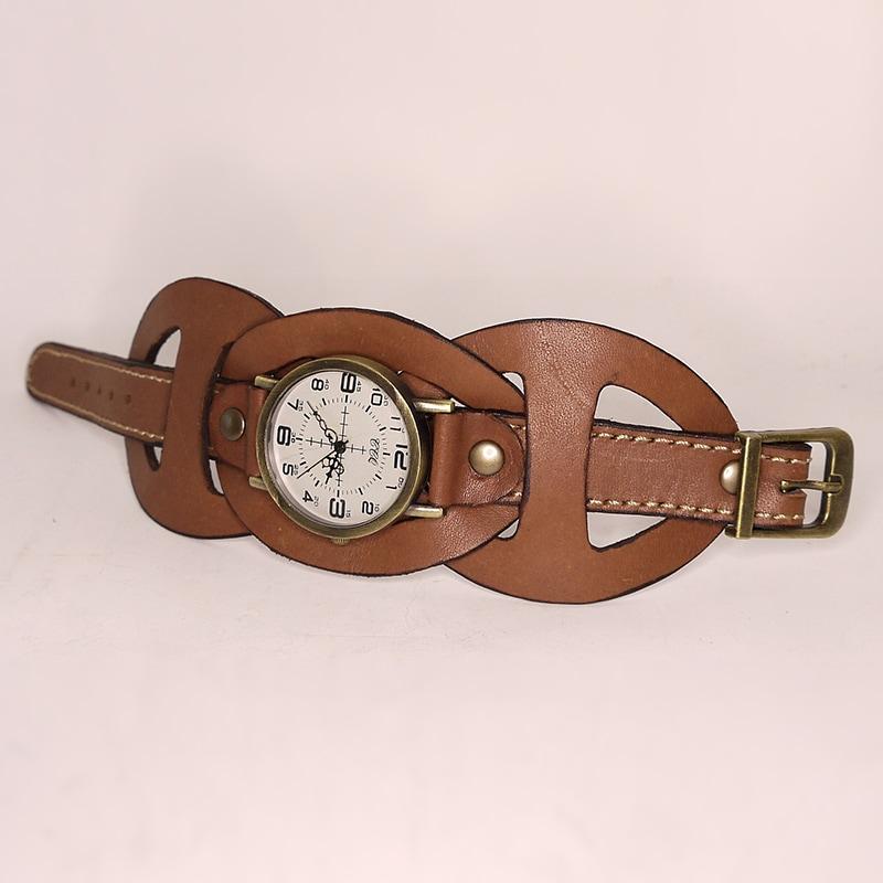 Часы дизайнерские женские Renaissance brown leather