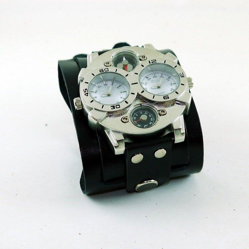 Чоловічий годинник у подарунок Double Aviator Circle