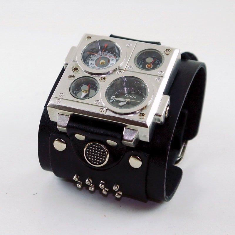 Чоловічий годинник у подарунок Double Aviator Altimeter