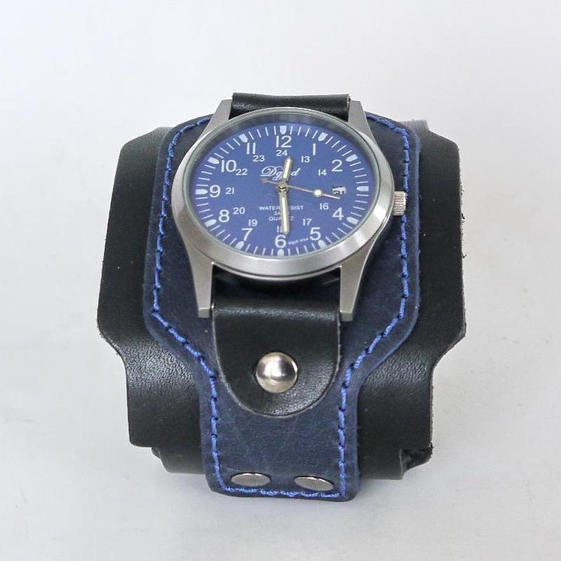 Часы мужские в подарок Classic Black Leather