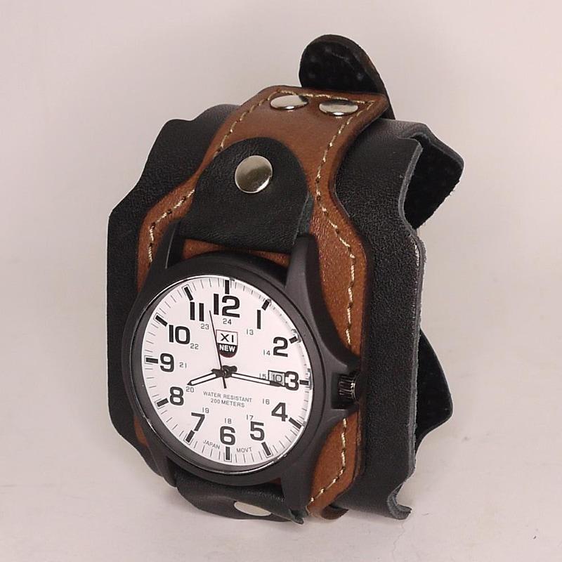 Дизайнерські чоловічі годинники Vintage Brown Leather